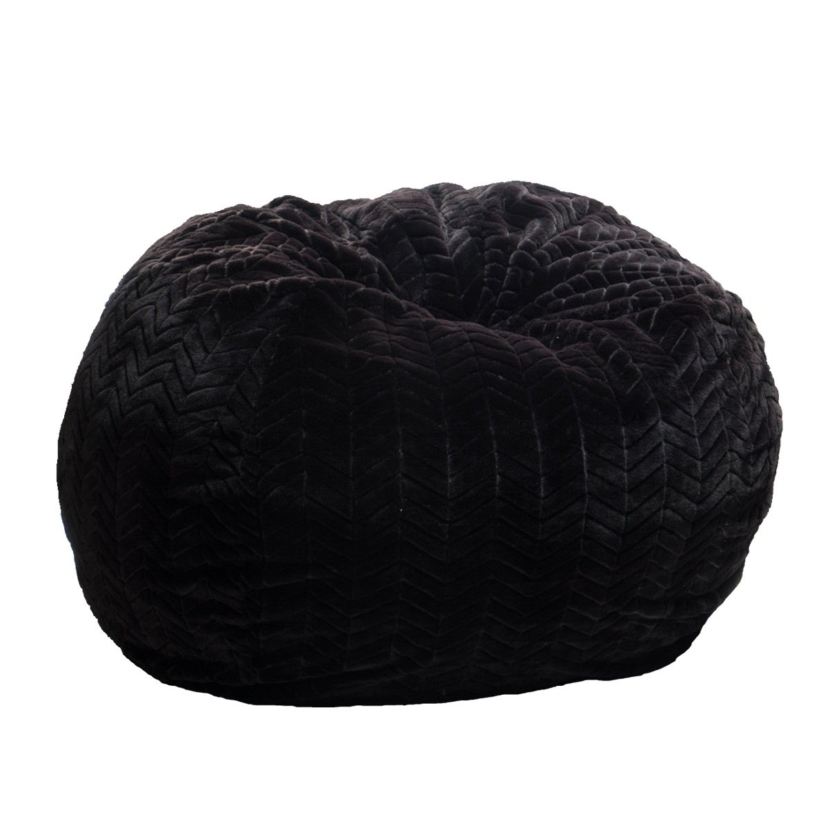 Black Soft Faux Fur Bean Bag