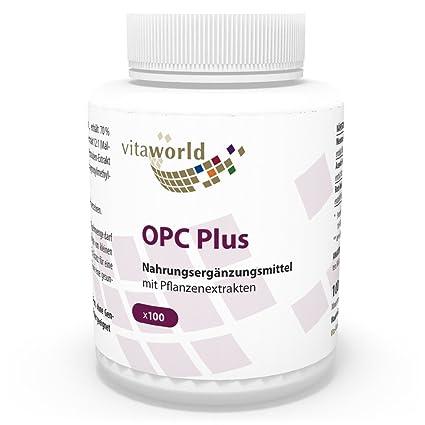 OPC 200mg 100 Cápsulas Vita World Farmacia Alemania - Antioxidante - Extracto de semilla de uva
