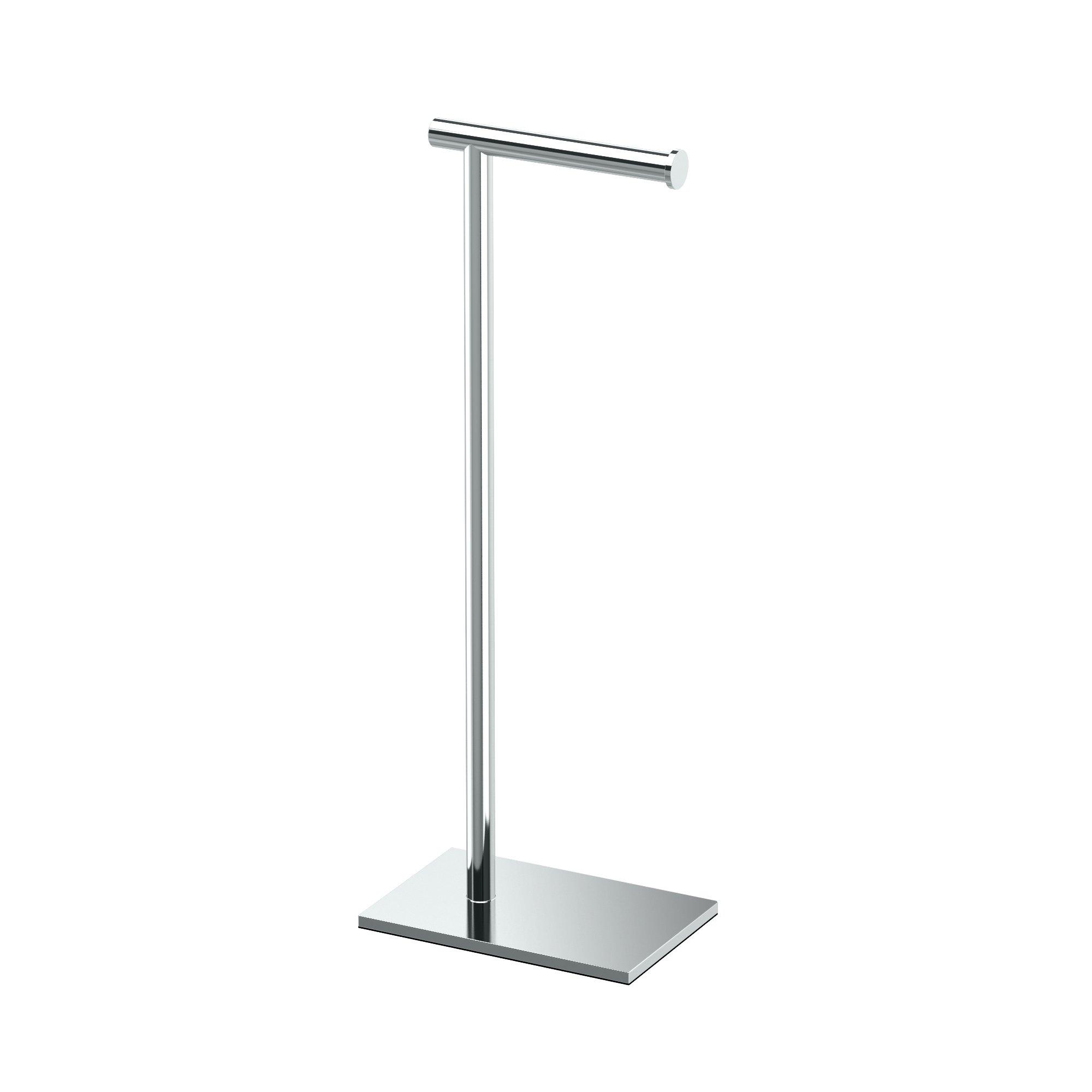 Modern Square Base Tissue Holder Stand, 22.25'', in Chrome
