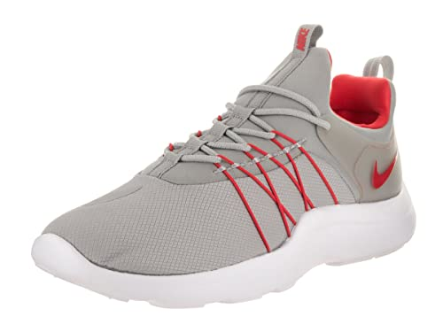 NIKE Mens Darwin Matte Silver/Action Red/White Casual Shoe 8.5 Men US