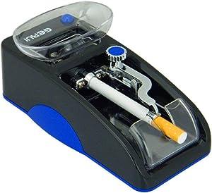 GERUI Electric Cigarette Tobacco Rolling Automatic Roller Maker Mini Machine (blue and black)