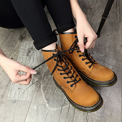 layer retro boots leather and winter YELLOW Autumn ankle 90160CM boots with boots first of NSXZ female boots wIqFSF