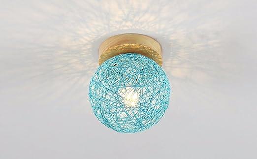 Plafoniere A Led Blu : Cuscino pastorale rattan led plafoniera blu: amazon.it: illuminazione