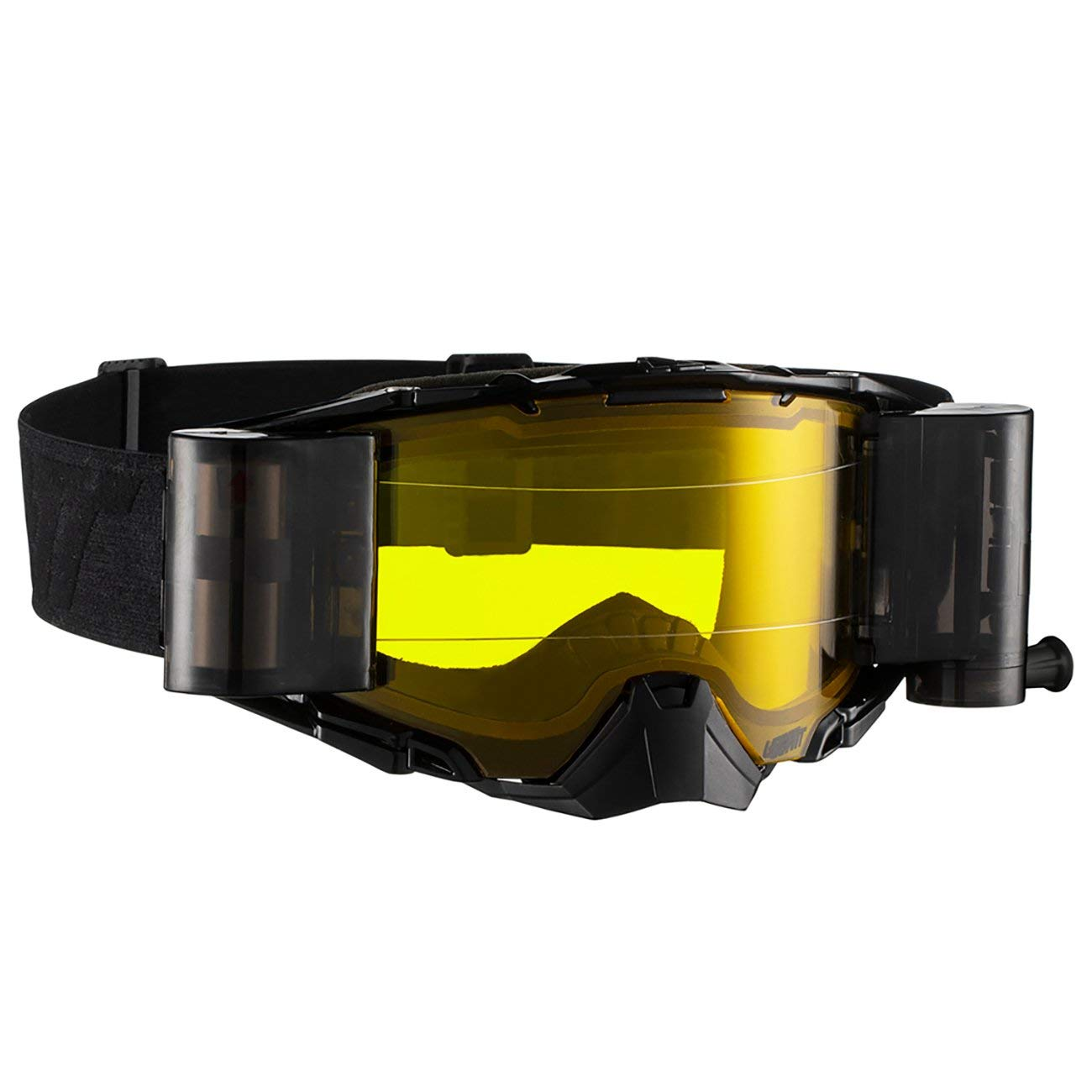 Leatt Velocity 6.5 Roll-Off Adult Off-Road Motorcycle Goggles - Black/Grey Yellow/One Size