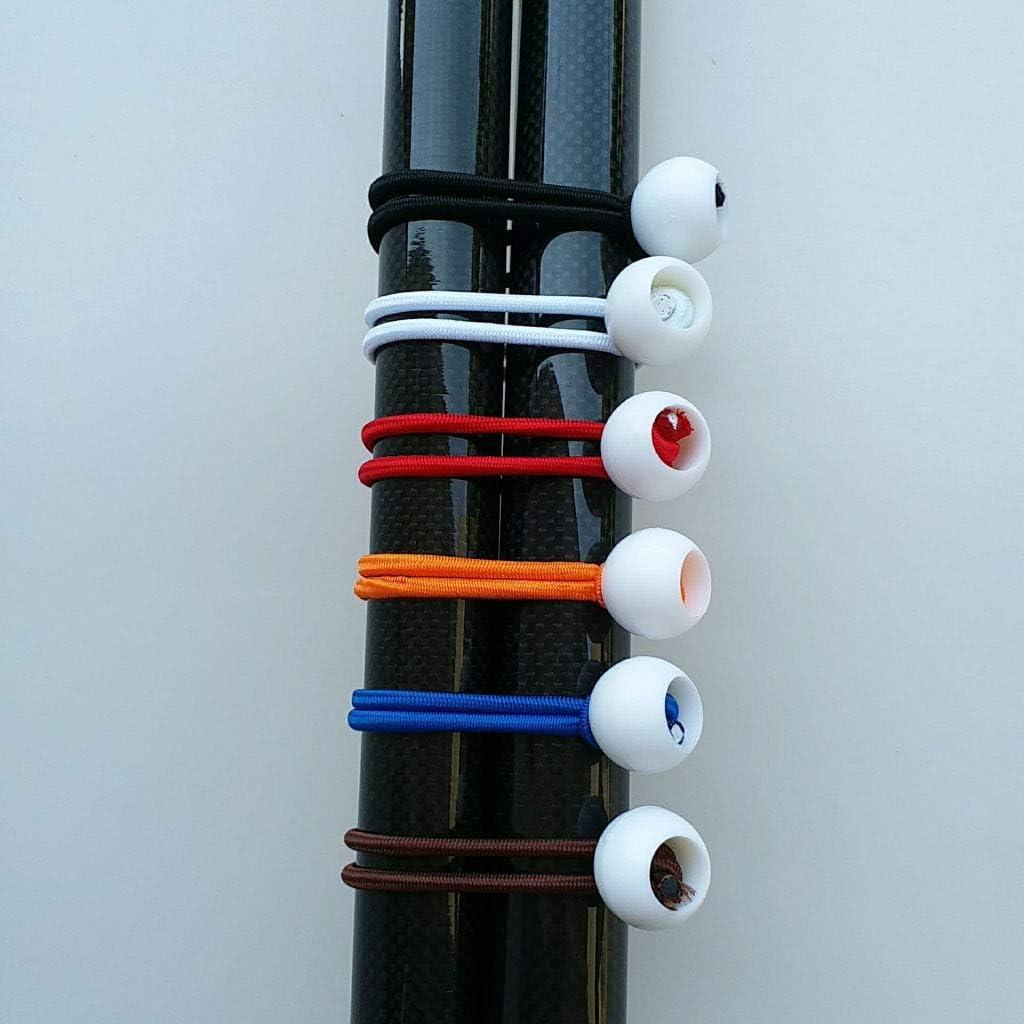 Toygogo Planenspanner mit Kugeln Spanngummi Expanderschlinge Gummischlaufen Zeltgummis Spanngummis 6 teilig Rot 6 Zoll