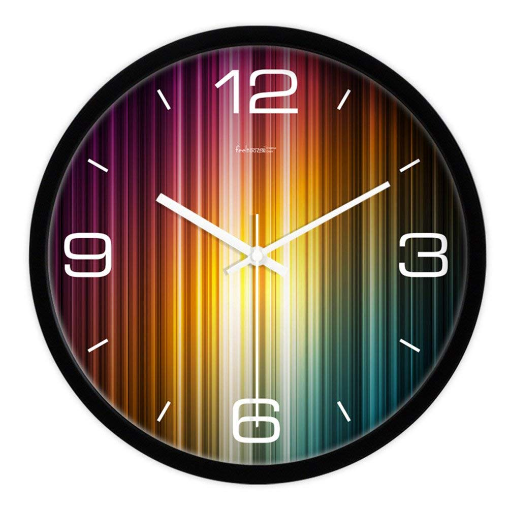 CWJ Clock- Wall Clock Metal Simple Personality Quiet Clock 10 Inches / 12 Inches/14 Incheshome Decoration Clock Creative Clock Silent Living Room Wall Clock Quartz Clock Wall Decoration Artwork,12 in