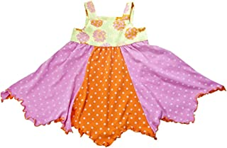 product image for Cheeky Banana Baby/Toddler Girls Handkerchief Dress Pink & Orange Dots