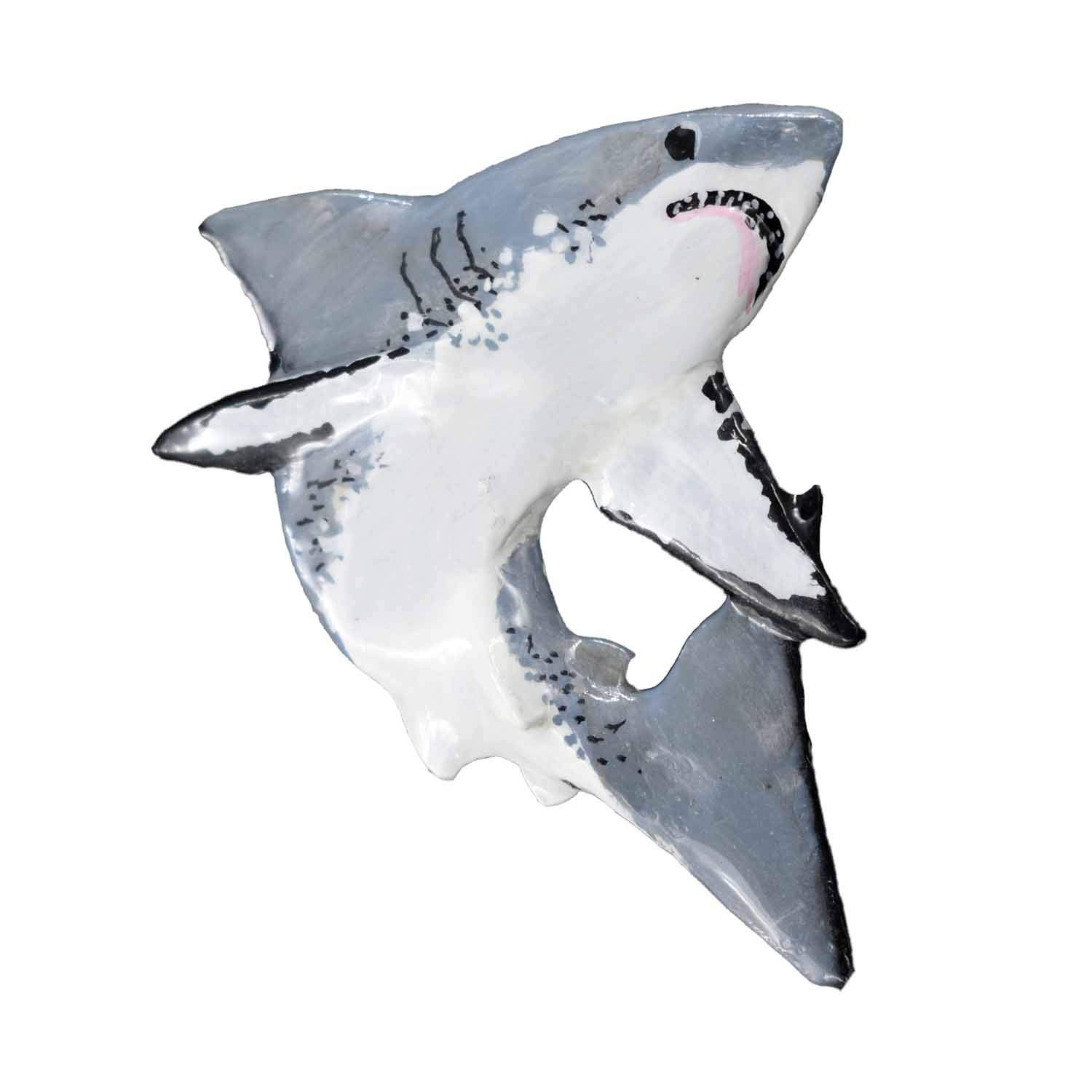 Great White Shark Premium Hand Painted SP112PR Lapel Pin, Brooch, Jewelry
