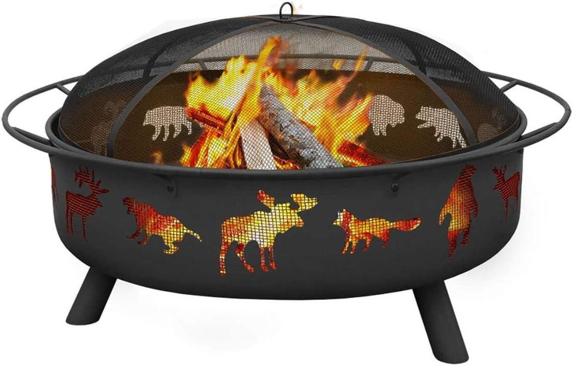 Amazon Com Landmann 28915 Super Sky Sturdy Steel Fire Pit Black Outdoor Firebowl Fire Pit Garden Outdoor