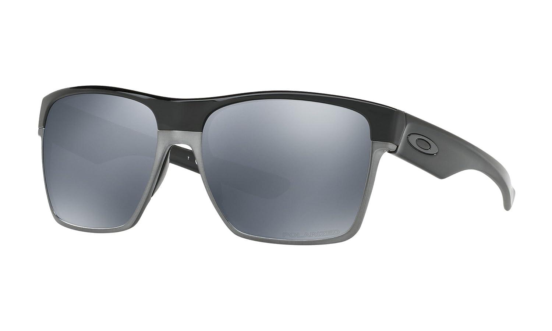 39eff2d37c070 Amazon.com  Oakley TwoFace XL Sunglasses Polished Black with Black Iridium  Polarized Lens + Sticker  Shoes