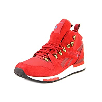 db0d9b76147f Reebok GL 6000 Mid Mens Red Textile Sneakers Shoes Size UK 9.5 ...