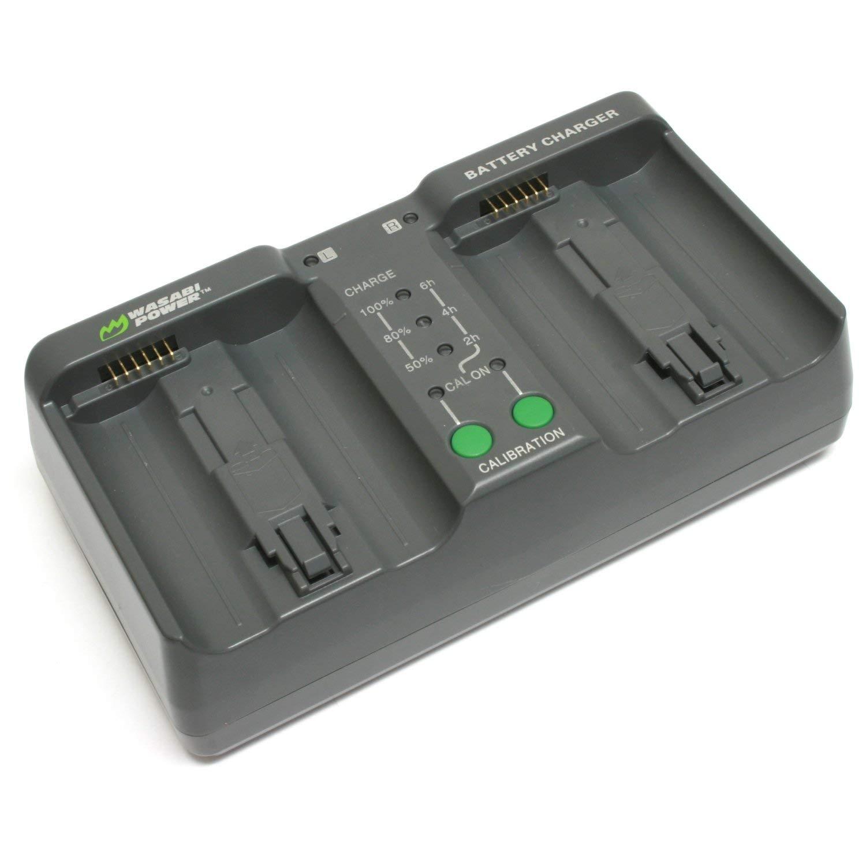 Wasabi Power Dual Battery Charger for Nikon EN-EL18, EN-EL18a, EN-EL18b, EN-EL18c, MH-26, MH-26aAK (with Adapter for Canon LP-E4, LP-E4N, LP-E19) by Wasabi Power