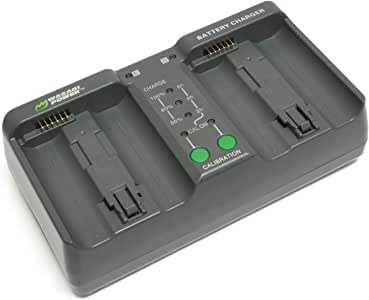 Wasabi Power Dual Battery Charger for Nikon MH-26 MH-26aAK EN-EL18 EN-EL18a EN-EL18b (with Adapter for Canon LP-E4 LP-E4N)