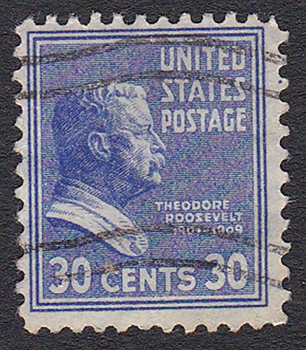 - United States (U.S.) Scott #830 - 30 Cent Roosevelt Portrait From Presidential Definitive Issue From 1938-54 - Collectible Postage Stamps