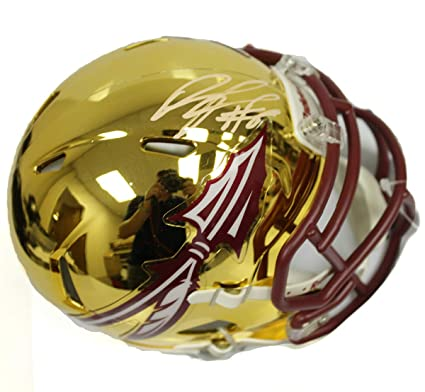 9185113a5d7 Devonta Freeman Autographed Signed Florida State Seminoles Riddell Chrome  Mini Helmet - JSA Certified Authentic