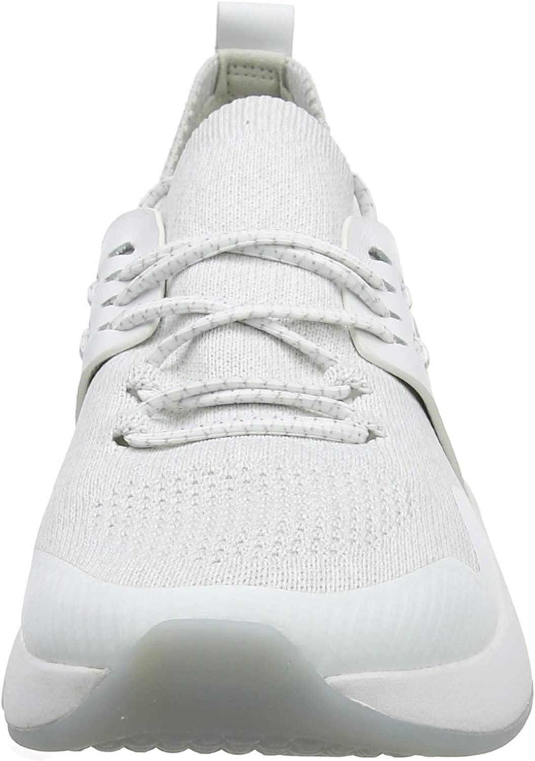 Cole Haan Damen Zerogrand All-Day Trainer Sneaker, weiß Weiß Optic White Glacier Grey Knit Optic White Leather Optic White Optic White Glacr