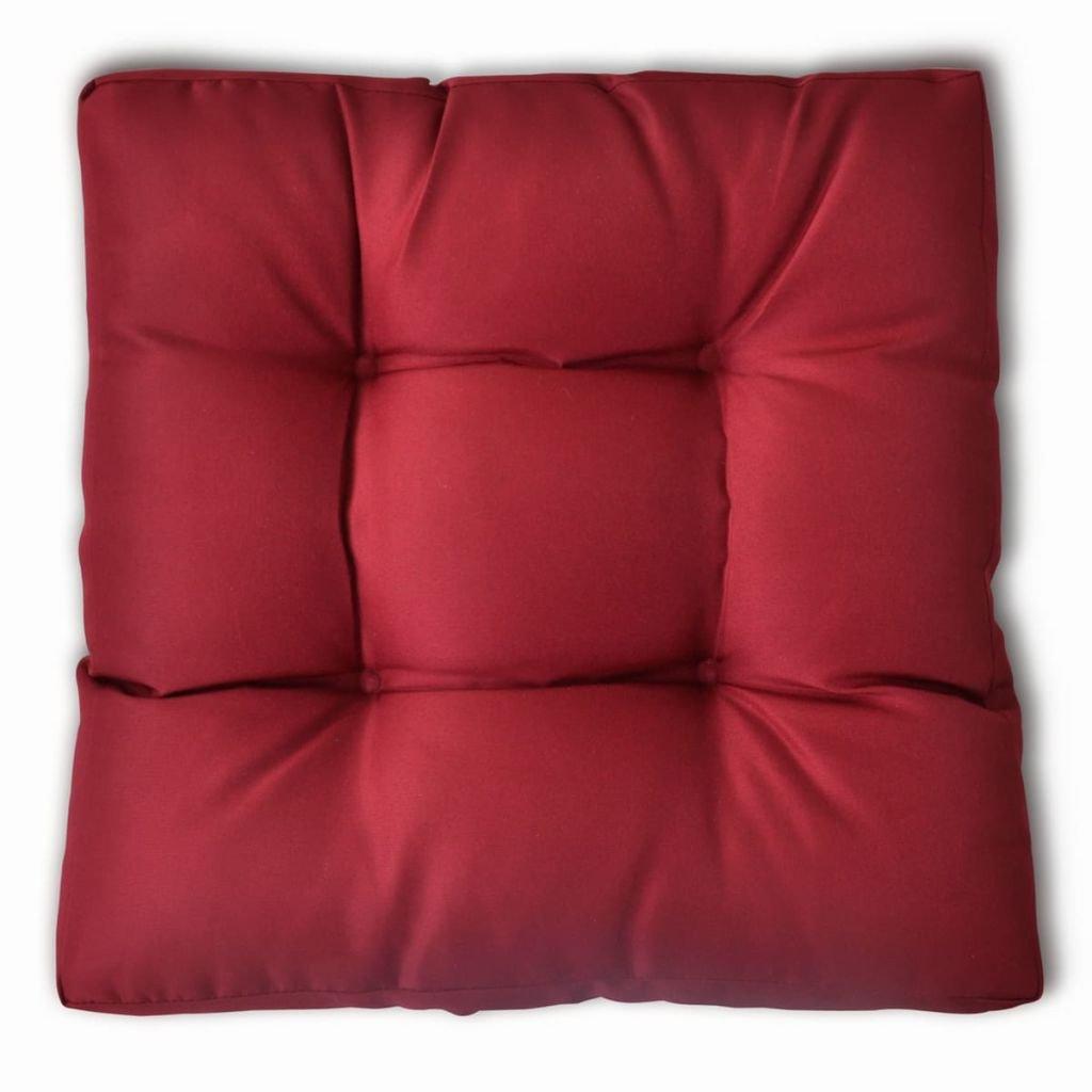 vidaXL Cojín de Asiento de Silla Acolchado Poliéster Rojo Tinto 60x40x20 cm: Amazon.es: Hogar