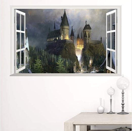 hzcl Harry Potter Cartel 3D Ventana Decoración Hogwarts ...