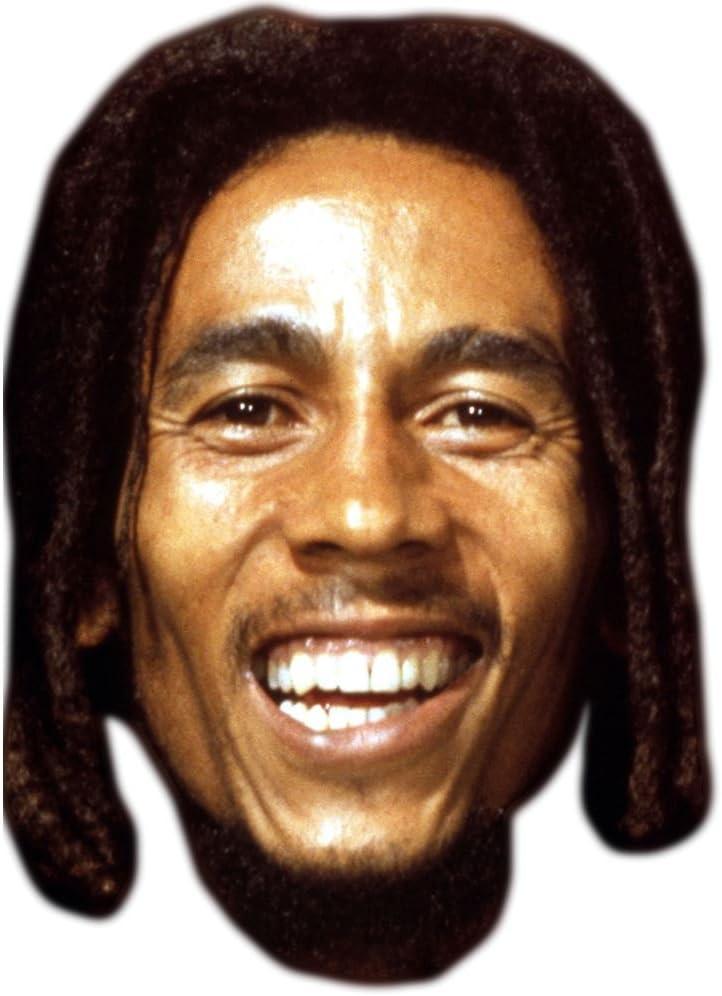 Bob Marley famoso máscara, cartón cara y disfraz máscara: Amazon ...