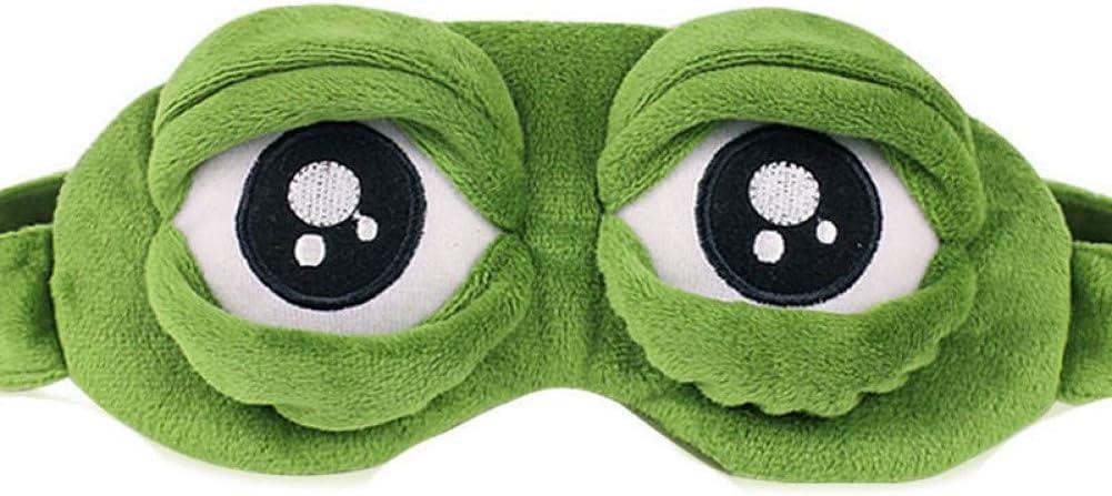 Máscara De Ojos Lindos Cubierta De Peluche La Rana Triste 3D Rana Cubierta De La Máscara De Ojos Relajarse Dormir Descanso Viajes Dormir Anime Regalo Divertido Belleza Gafas