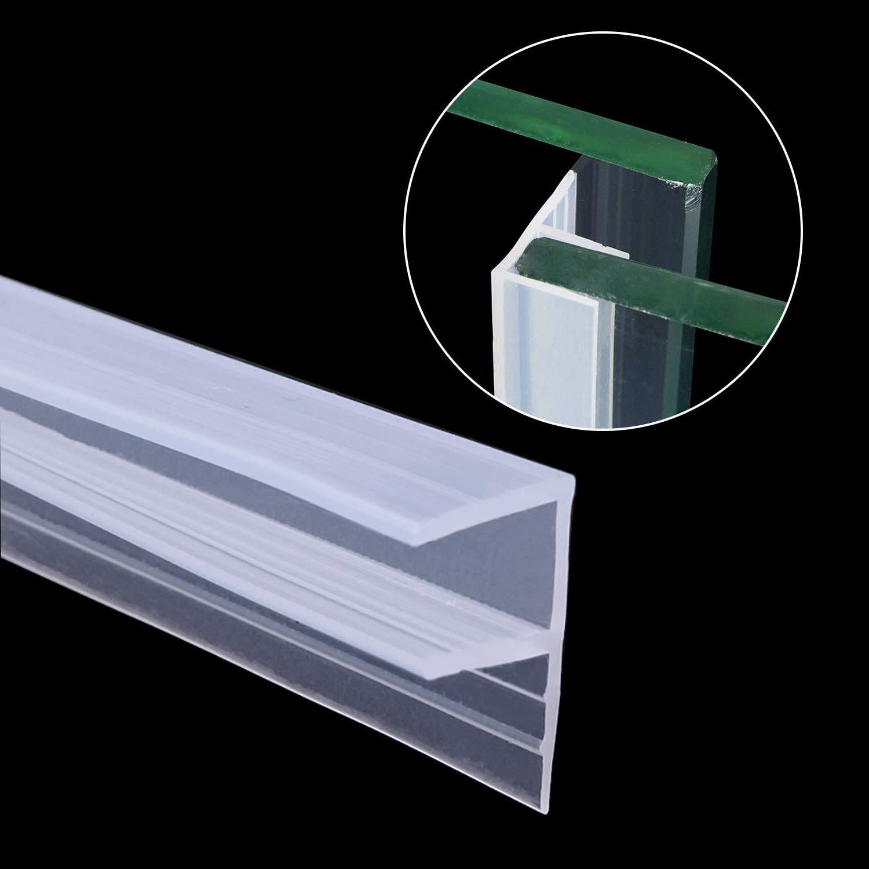 6 mm, 8 mm, 10 mm, cristal transparente de 3 m, sin marco, puertas y ventanas deslizantes horizontalmente Junta para puerta de ducha KuTi Kai