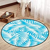 Circularity Floor mat for Standing Desk Round Indoor Floor mat Entrance Circle Floor mat for Office Chair Wood Floor Round mat for Living Room Pattern 3'11' Diameter
