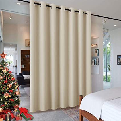 RYB HOME Wall Divider Curtain for Living Room, Noise Reduction Privacy  Curtain with Anti-Rust Grommet Top Blackout Curtain for Living Room/Kids  Room, ...