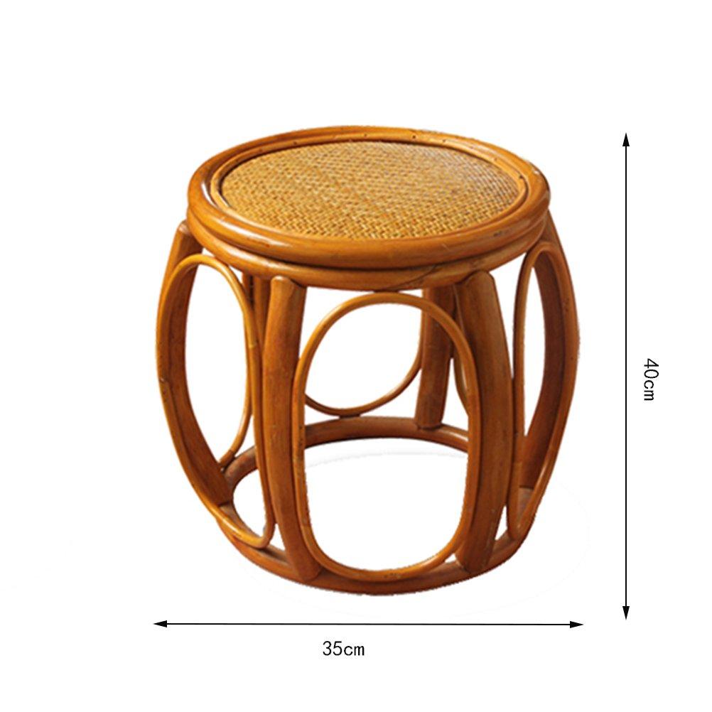 Wondrous Amazon Com Kxbymx Small Rattan Chair Backrest Stools Shoe Machost Co Dining Chair Design Ideas Machostcouk