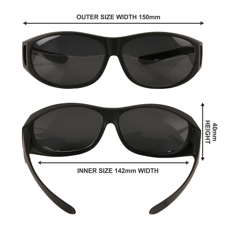 Gafas de Sol Polarizadas Para Colocar Sobre las Gafas Normales y de ...