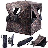 Blind & Tree Stand Accessories Ground Hunting Blind Portable Deer Pop Up Camo Hunter Weather Proof Mesh Window