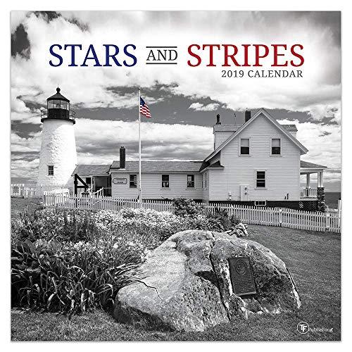 White Photo Wall Calendar - Stars and Stripes 2019 Wall Calendar