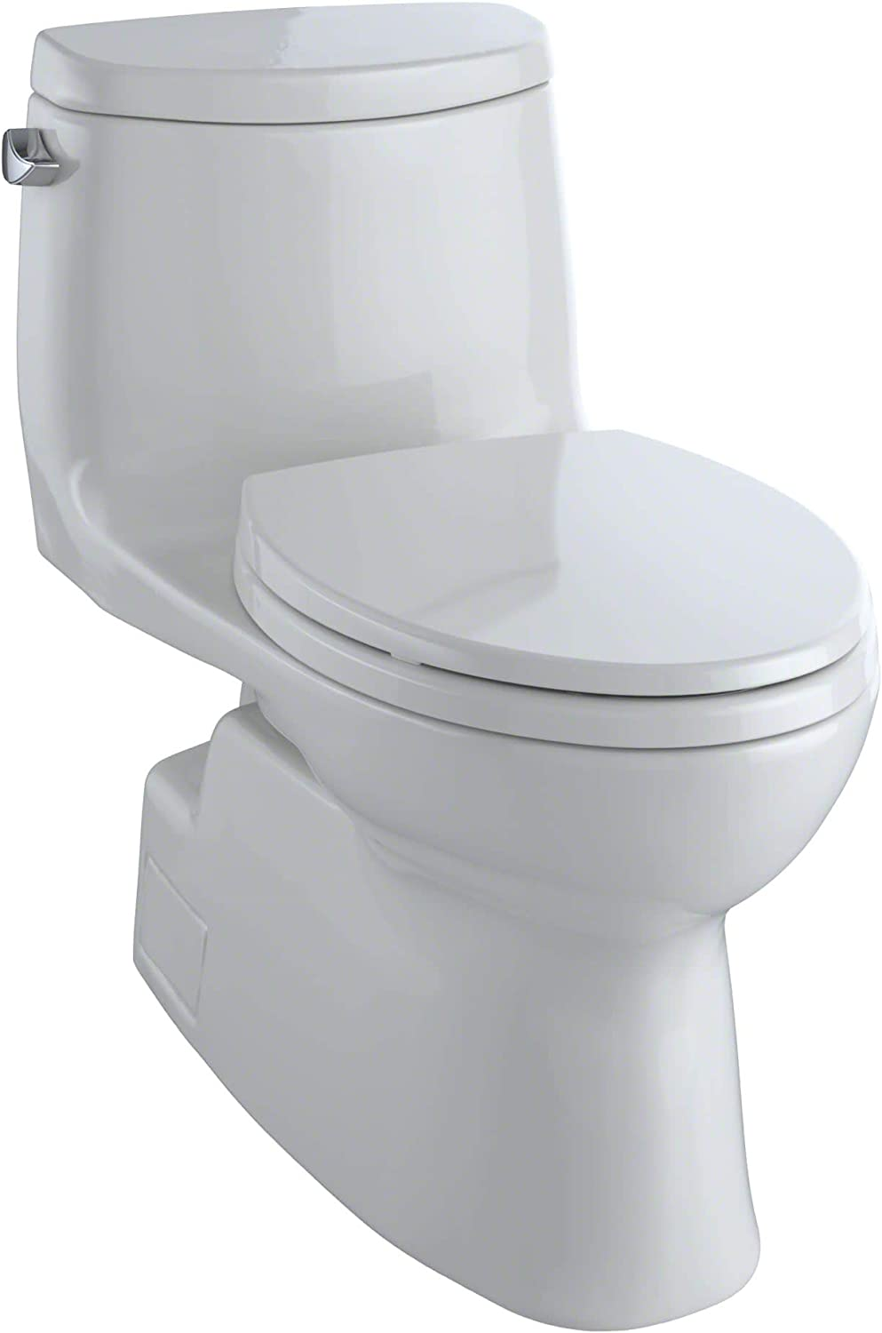 Toto Carlyle Ii One Piece Elongated 1 28 Gpf Universal Height Skirted Toilet With Cefiontect Colonial White Amazon Com