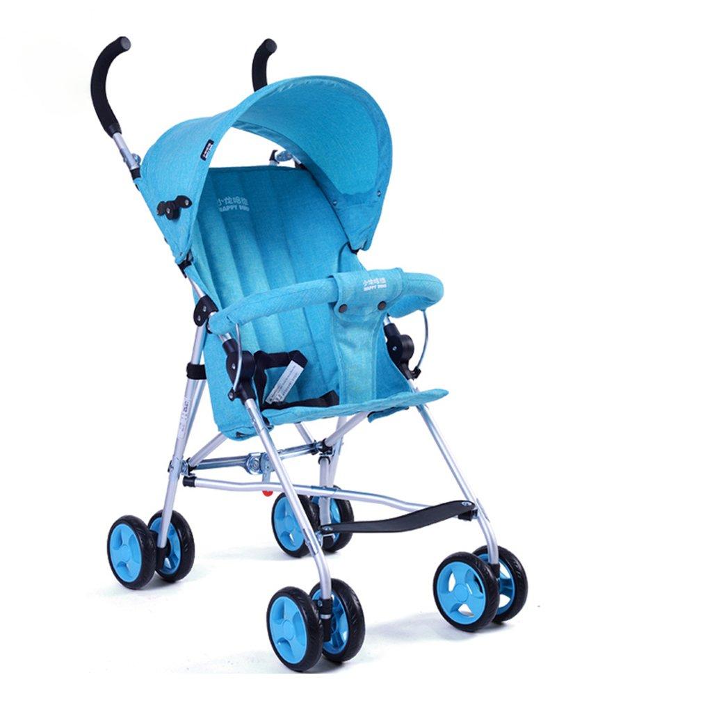 ベビーカーウルトラライトポータブルハーフフットヘッドチェアトロリー(ブルー)(ピンク)(パープル)570 * 460 * 930mm ( Color : Blue ) B07BTWQNPY
