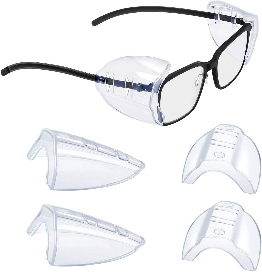 2 2//4//6//10 Pairs Glasses Side Shields for Eye Glasses,Safety Glasses with Side for Eye Protection-Fits Small to Medium Eyeglasses