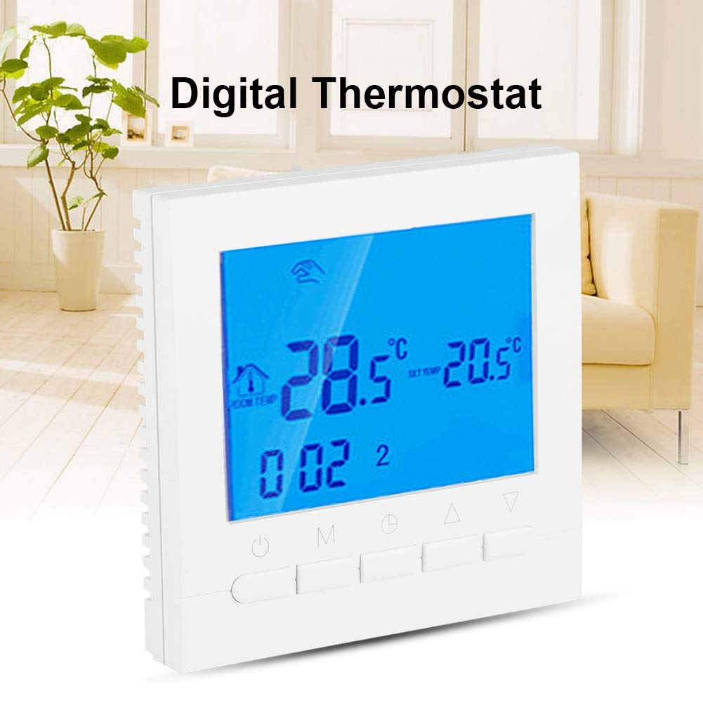 110V Programmable WiFi Wireless Heating Home Thermostat Large Digital LCD Screen App Control