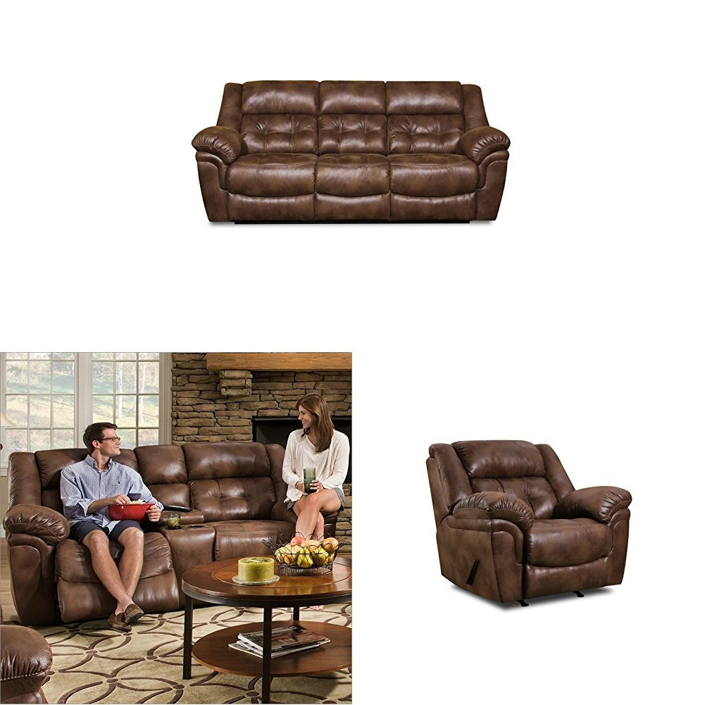 Amazoncom Simmons Upholstery Wisconsin 3 Pc Living Room Set With