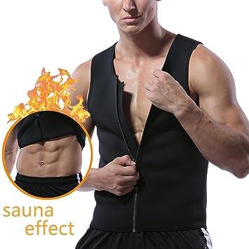 Cintura Entrenamiento Neopreno Pérdida Shaper Top Paskyee Tank De Cremallera Para Hombres Body Tirantes Mujer Peso Sauna Caliente Camiseta pf4wf8x0qC