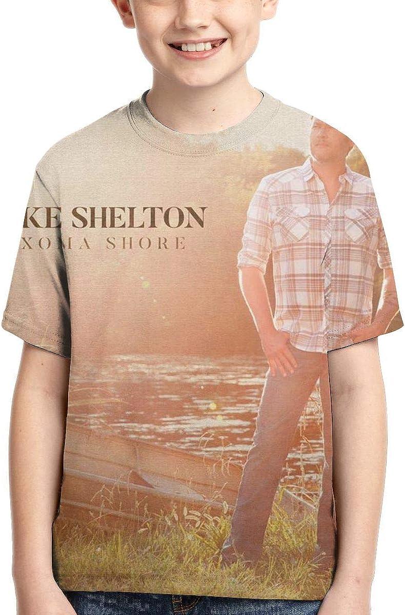 BowersJ Kids Blake Shelton Texoma Shore Design 3D Printed Short Sleeve T Shirts for Girls /& Boys Black