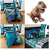Universal Jurassic World Biggest Growl 5 Piece Reversible Kids Bedding Set, Twin