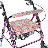 Walker Seat Cover Rollator Walker Seat and Backrest Covers Vibrant Walker Cover One Size Multiple Colors (CB1885)