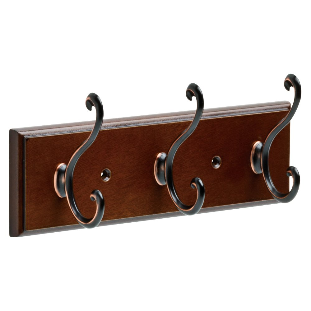 Franklin Brass FBLDSH3-BOB-R 9.5'' Rail with 3 Scroll Hooks in Bark, Bronze