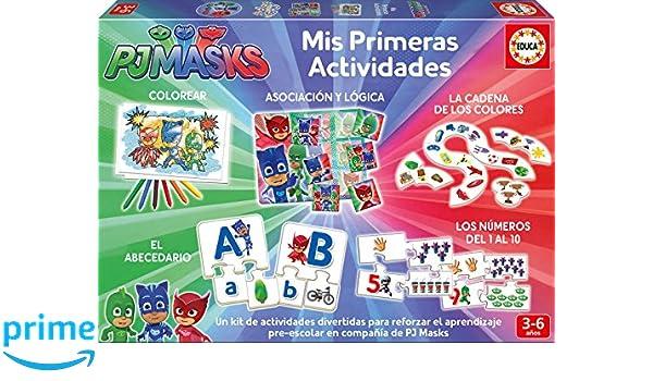 Educa Borrás PJ Masks Mis Primeras Actividades, (17709): Amazon.es: Juguetes y juegos