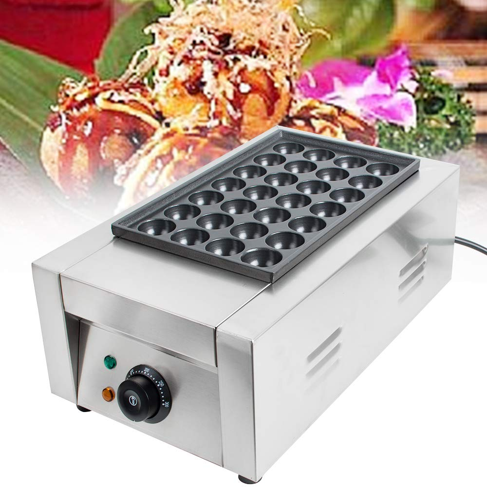 Takoyaki Maker Pan, vinmax 28Pcs Commercial Japanese Electric Takoyaki Pan Octopus Fish Ball Maker Nonstick Grill Plate Cake Pancake Machine, 110V (Shipping from US)