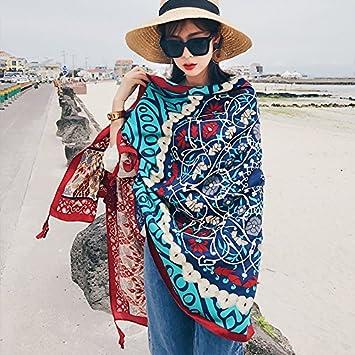 34c9606de486 Foulards Style Folk Féminin Au Printemps Et L Été Maison De Vacances  Foulard Foulard Pareo