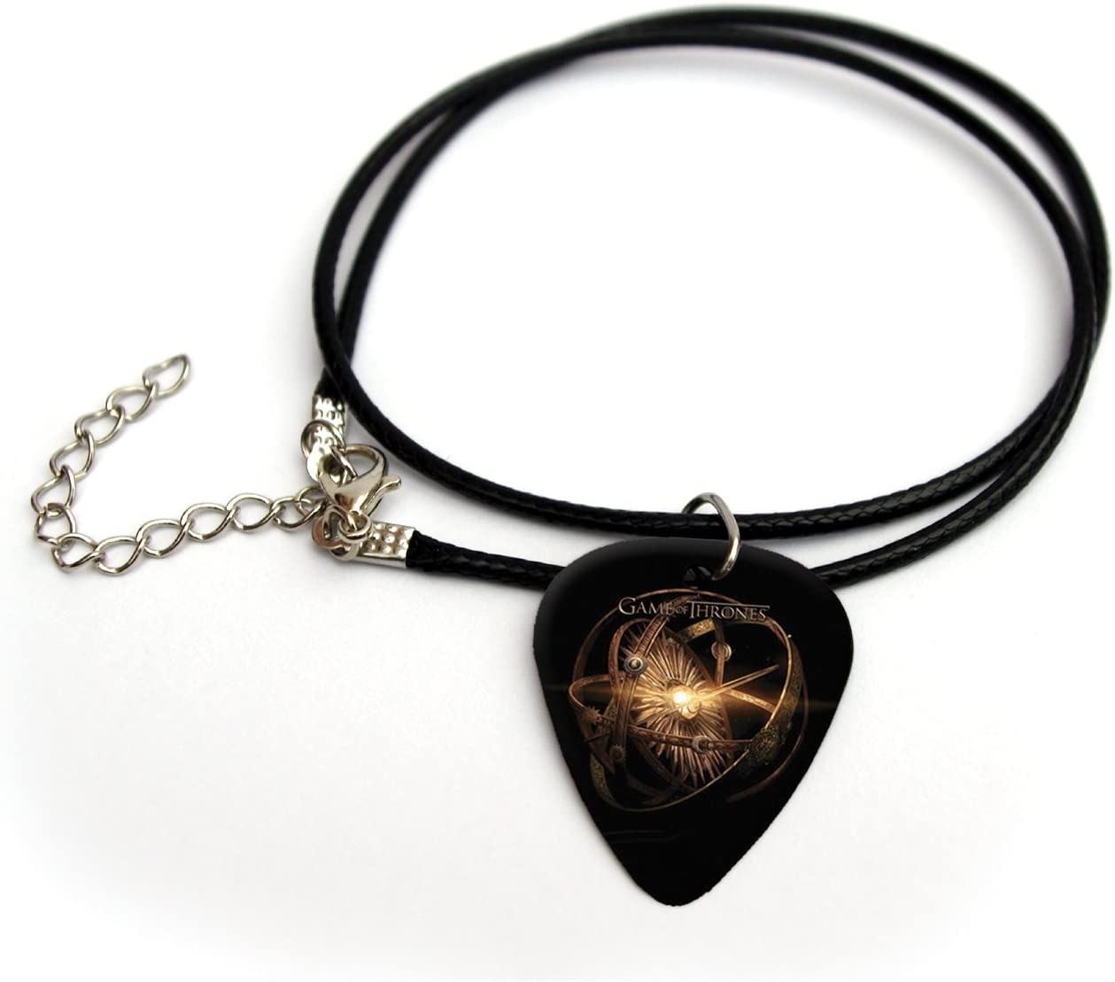 'Game of Thrones Printed Guitarra Pick Necklace 18FC helescope Globe # 1