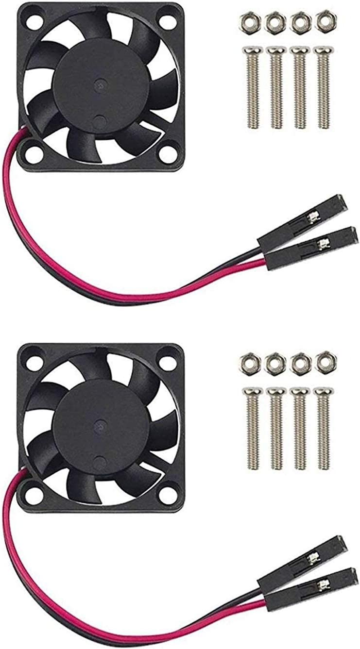 2Pcs Raspberry Pi Cooling Fan Brushless CPU Cooling Fan Heatsink Cooler Radiator Connector Separating One-to-Two Interface 3.3V 5V for Raspberry Pi4 Pi3 B+ Pi 2 Pi 3 Raspberry Pi Fan Pi 1 B+