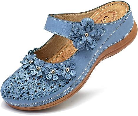 gracosy Damen Clogs Weiche Beil/äufig Niedrige Pantoletten mit Keilabsatz Bequeme Walking Schuhe Classic Specialist Clogs Slip on Sommer Sandalen Hausschuhe