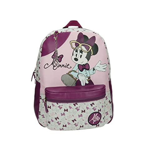 Disney 32923A1 Minnie Glam Mochila Escolar, 19.4 litros, Color Rosa