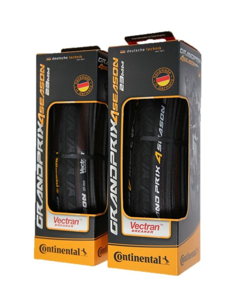 Continental Grand Prix 4-Season Folding Clincher Tire - Pair of Tires (Black 700x23c)