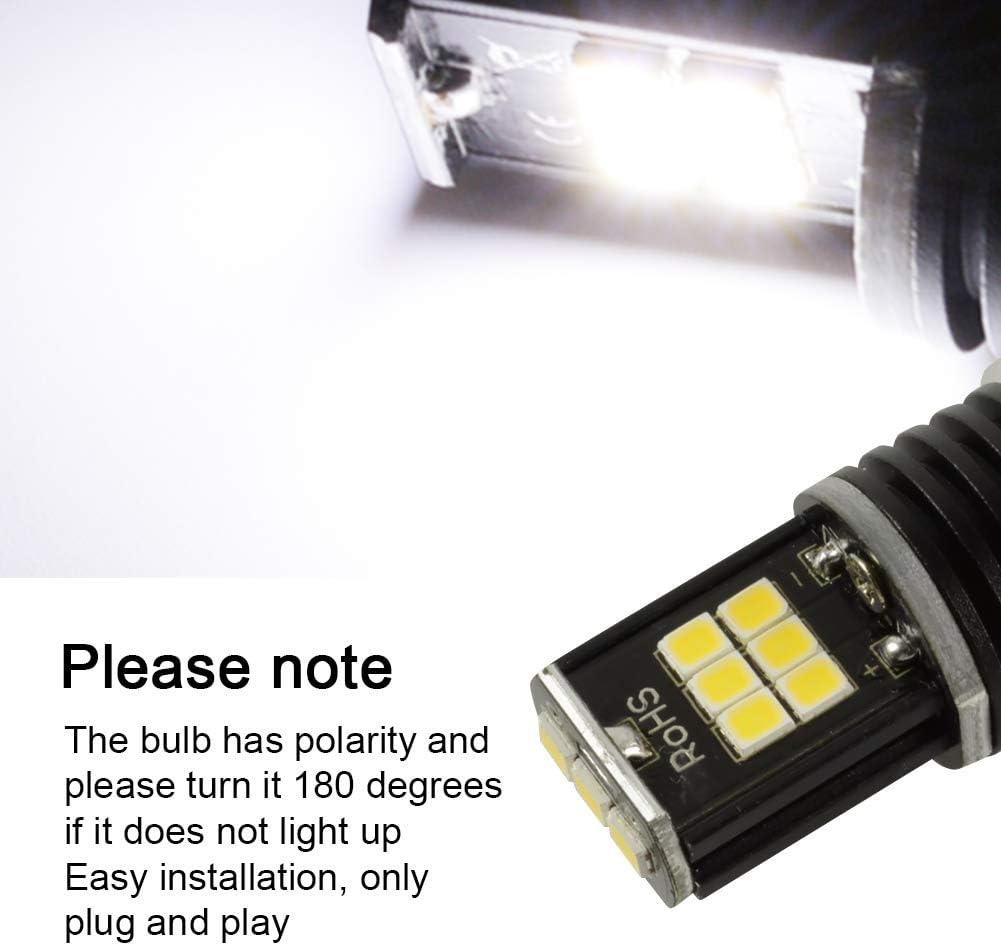 LncBoc 1156 BA15S 15SMD 2835 Chipsets LED Bulbs High Luminance For Car Auto Turn Signal Backup Reverse Lights Xenon White Colour 6000K